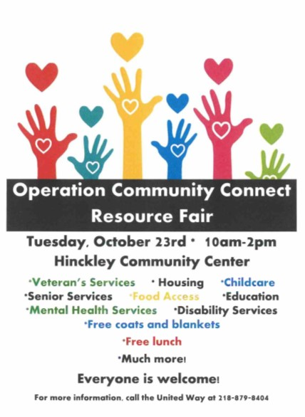 Operation Community Connect flyer for 2018 event