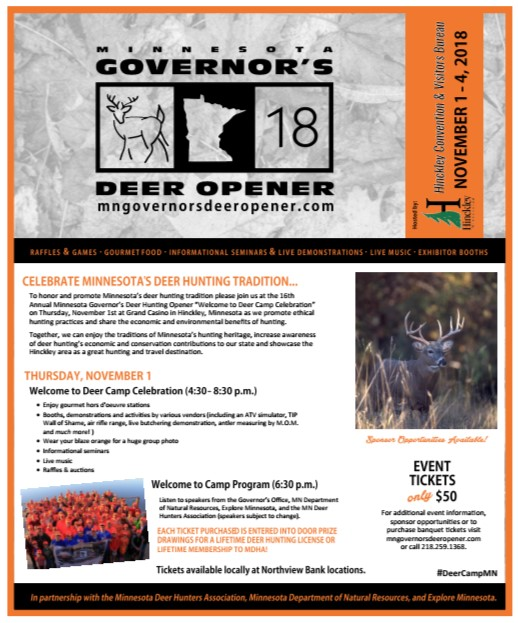 MN Governor's Deer Opener Flyer