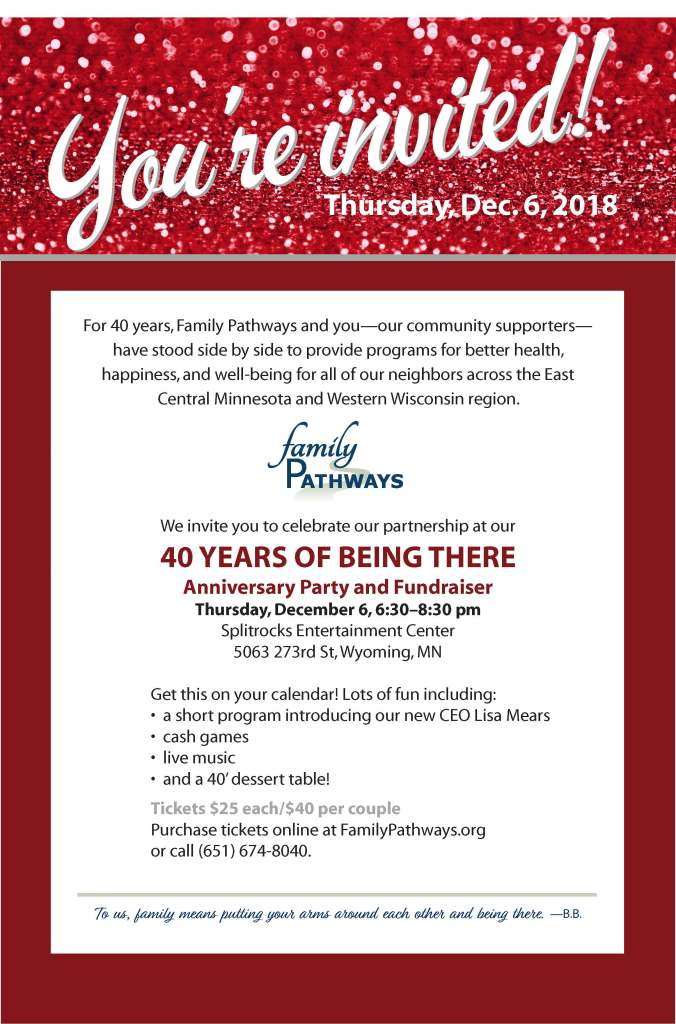 Family Pathways party flyer 12.6.18