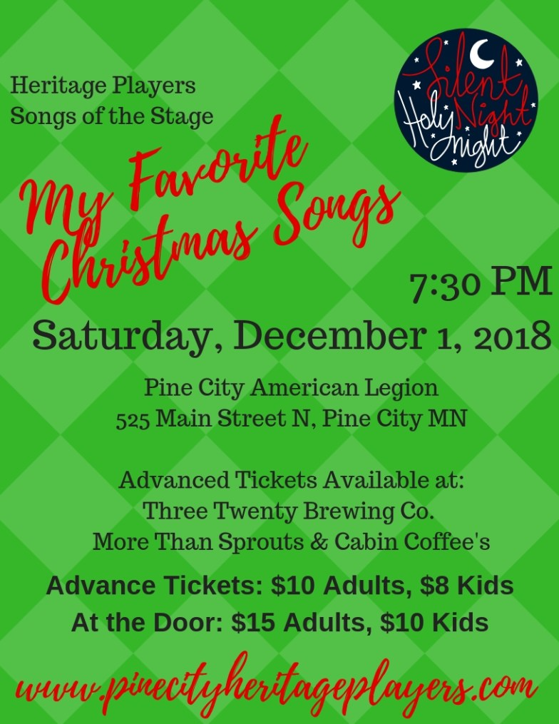 Songs of the Stage December 1 flyer