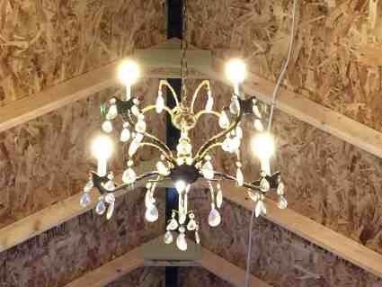 Chandelier in Pinecone Cottage