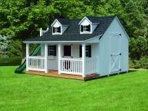 Cape Cod Shed with Porch