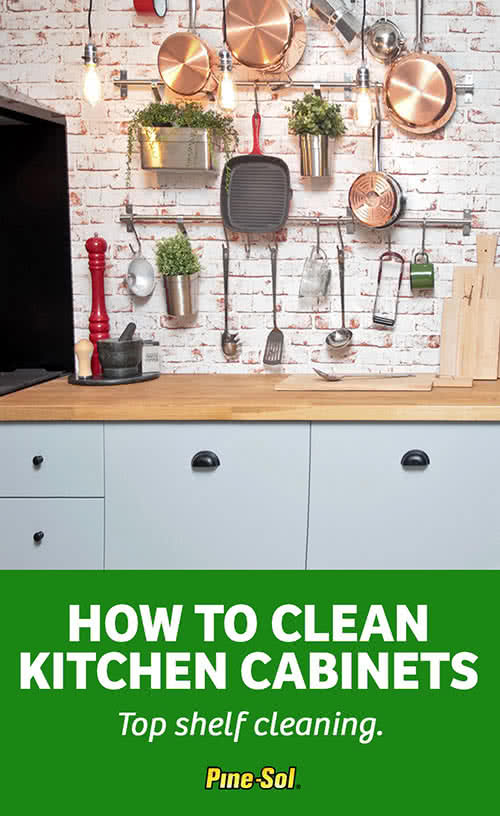 How to Clean Kitchen Cabinets  PineSol