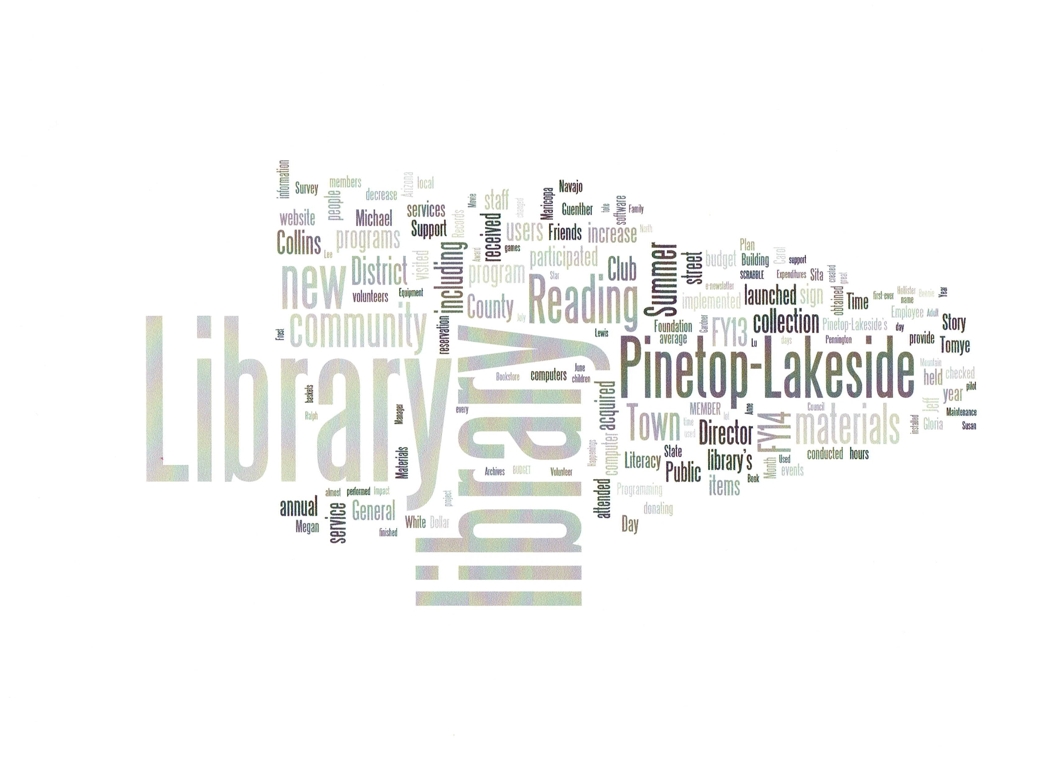 FY14 Annual Report Word Cloud