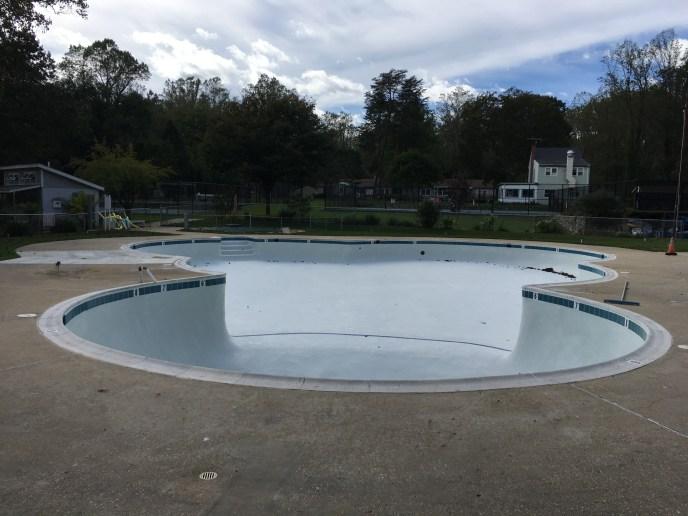 Pine Tree pool refurbished.