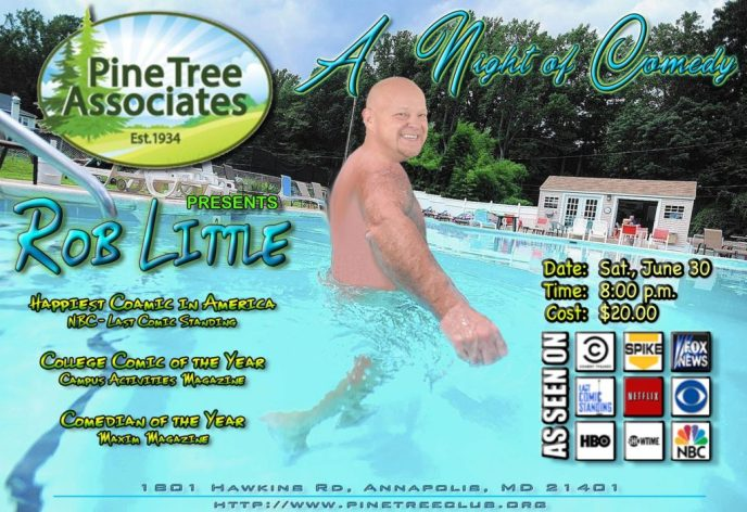 Rob Little at Pine Tree June 30, 2018 flyer.