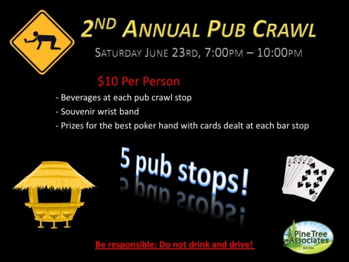 Pine Tree's Annual Pub Crawl