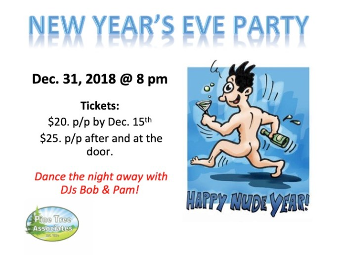 New Year's Eve Party - Dec. 31, 2018