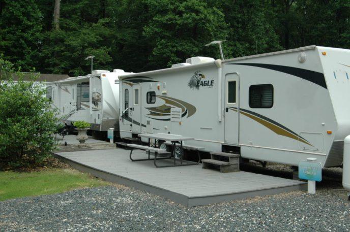 Dorchester rental trailer at Pine Tree Associates