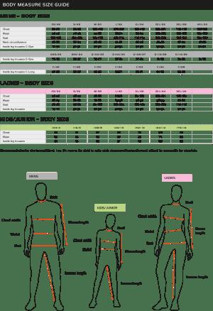 Size chart | Pinewood