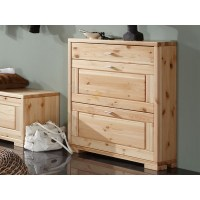 Pine shoe cabinet Genewa 3s - pinewoodfurniture24.co.uk