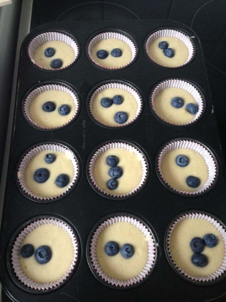 Blauwe bessen muffin met Griekse yoghurt