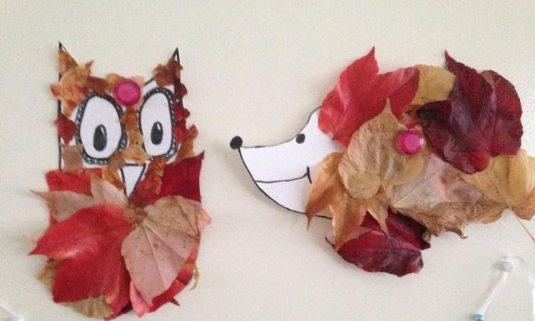 Herfst dieren knutselen met kinderen - Gemakkelijke herfst knutselwerkjes