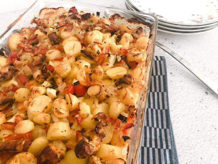 Ovenschotel krieltjes en kip makkelijk recept maken oven-2
