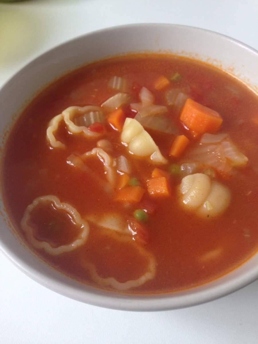 Snelle minestrone soep