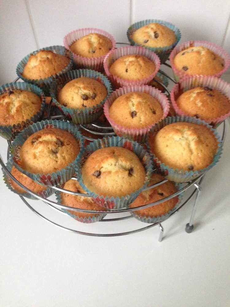 Cupcakes met chocolade basisrecept