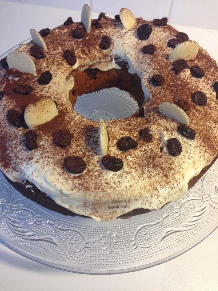 Kriekencake mascarpone met chocolade recept