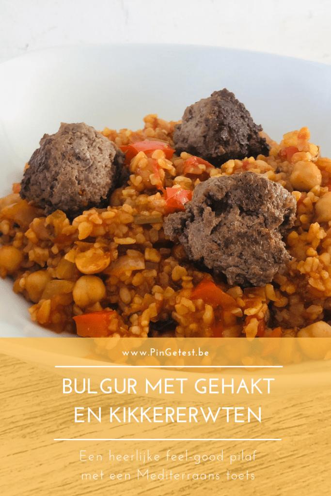 Recept bulgur met gehakt en kikkererwten maken - gemakkelijk te volgen recept met bulgur - snelle gerechten bij PinGetest