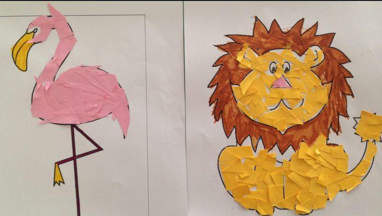 Kleurplaat mozaïek - knutselen met kinderen -PinGetest