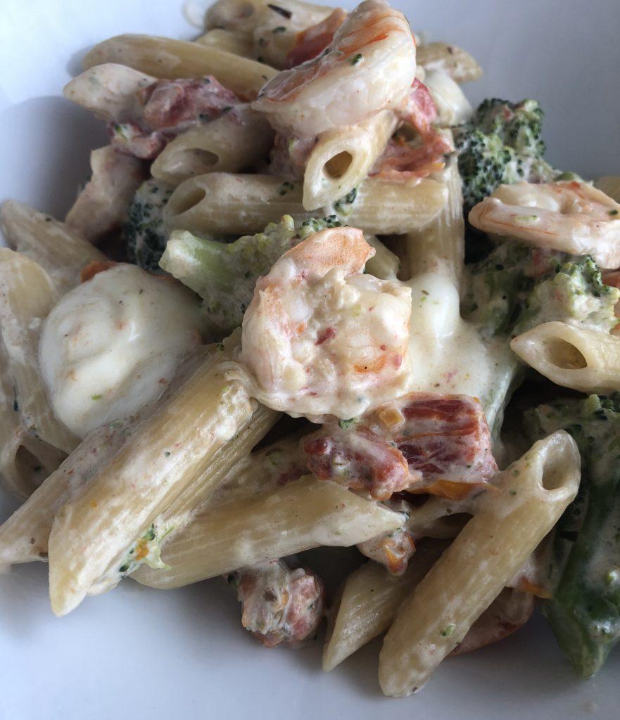 Penne met scampi en broccoli snel en gemakkelijk recept - PinGetest