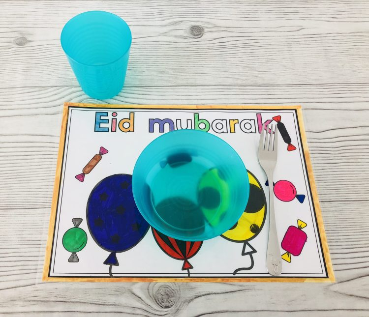 Eid mubarak placemats - Suikerfeest placemats zelf maken