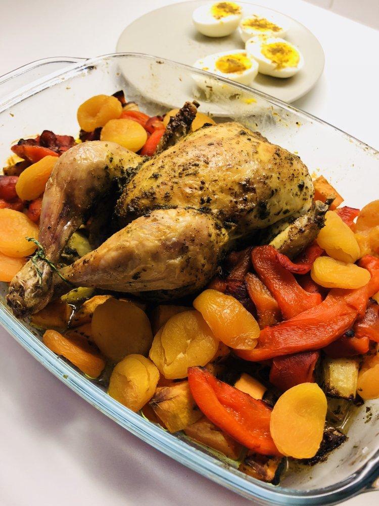 Gebraden kip met zoete aardappel recept