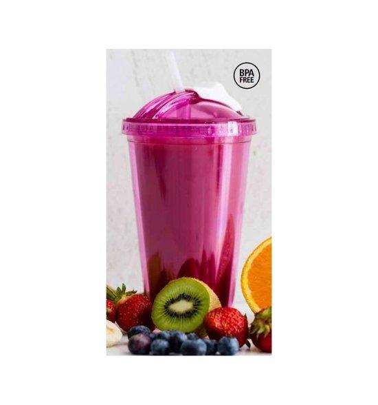 Sagaform smoothie beker Fresh - Kleur - Roze