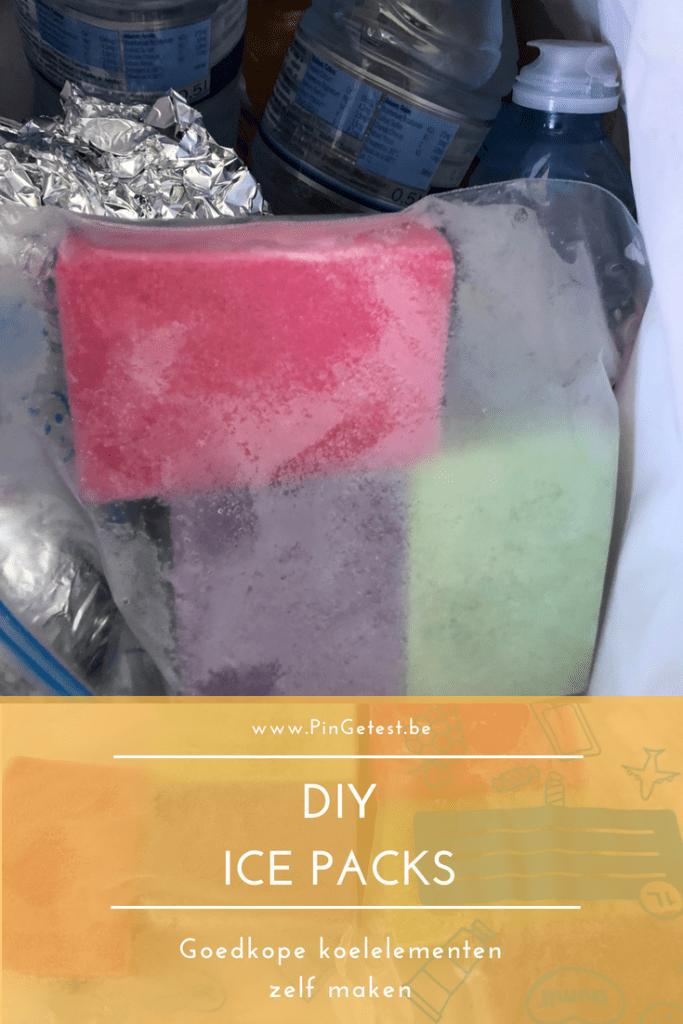 Ice packs zelf maken - koelelementen DIY