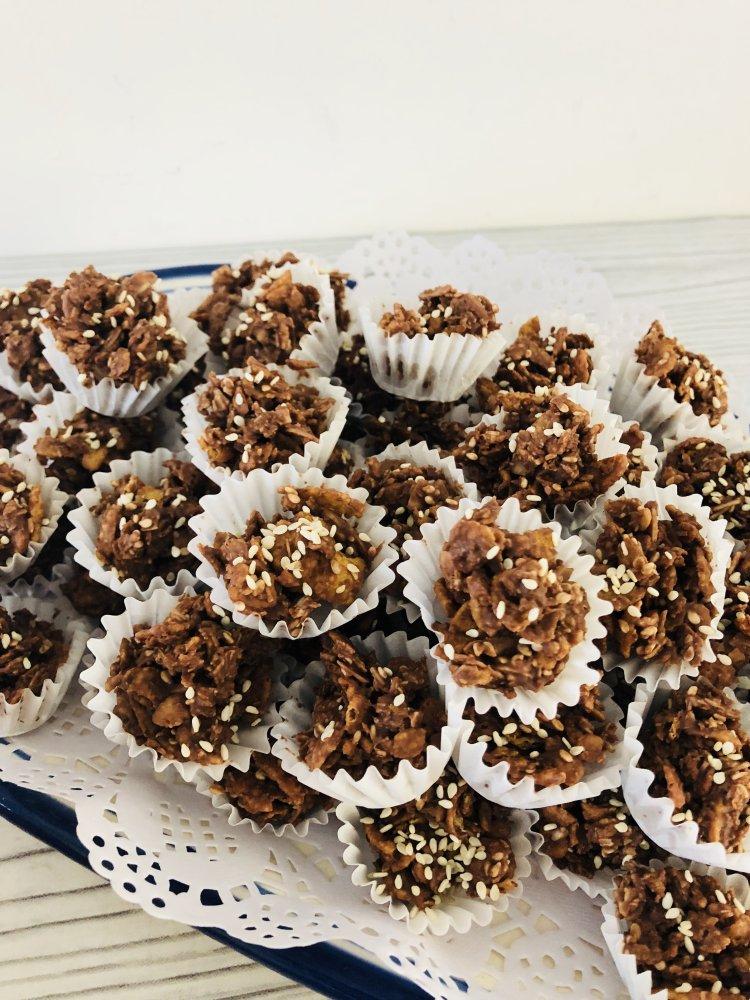 Zelf Chocoladerotsjes maken - cornflakeskoekjes recept - no bake gemakkelijk recept - PinGetest-1