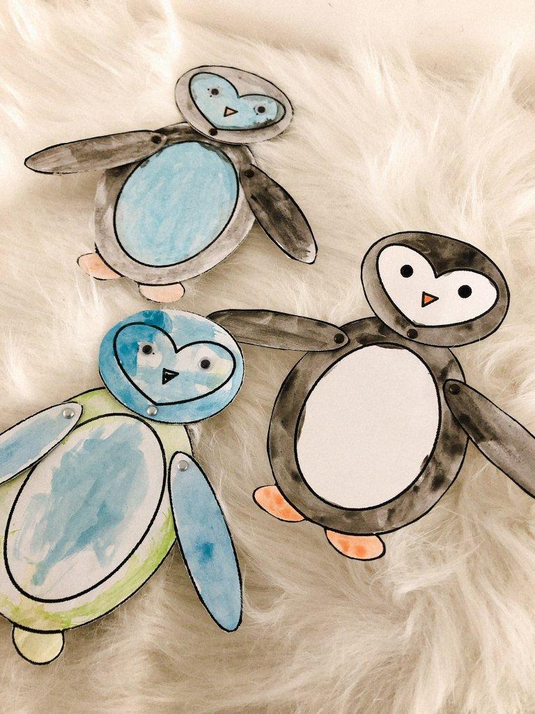 Pinguin knutselen met kinderen - thema winter-4
