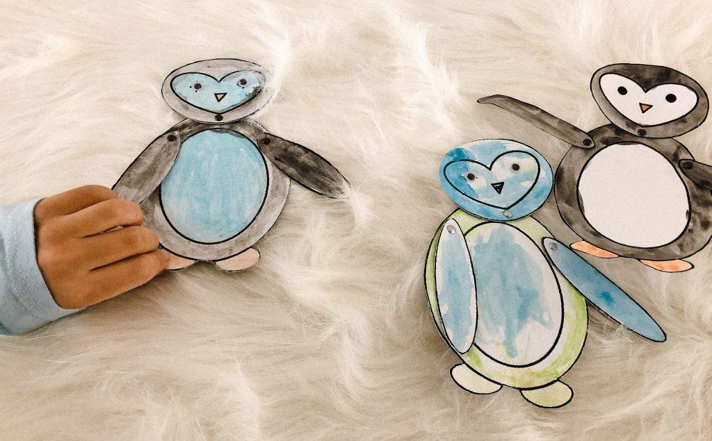 Pinguin knutselen met kinderen - thema winter-5