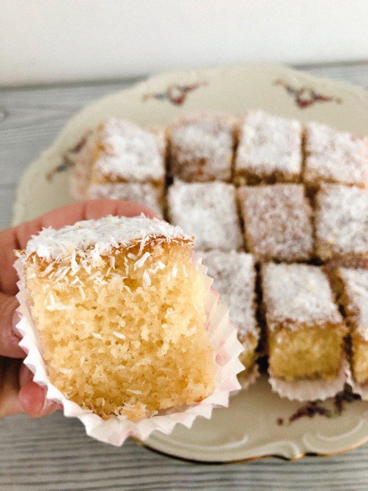 Vanille griesmeelcake recept met kokos en vanillepudding maken-3