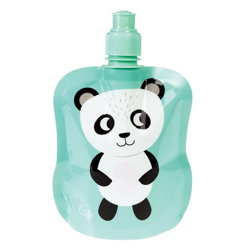 Oprolbaar drinkfles panda
