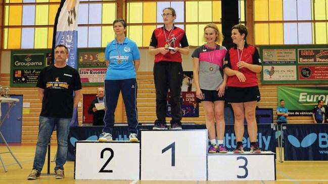 Laurence Le Bec Championne du Finistère feminine moins de 700 points 3ème Katell Pierre