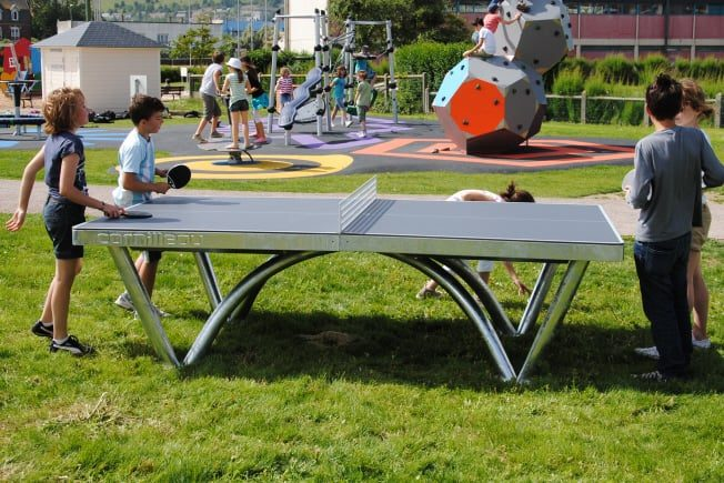 Cornilleau park permanent static outdoor table tennis table - Cornilleau outdoor table tennis cover ...