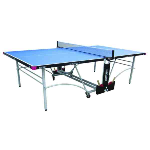 Butterfly Spirit 12 Blue Outdoor Rollaway Table Tennis Table