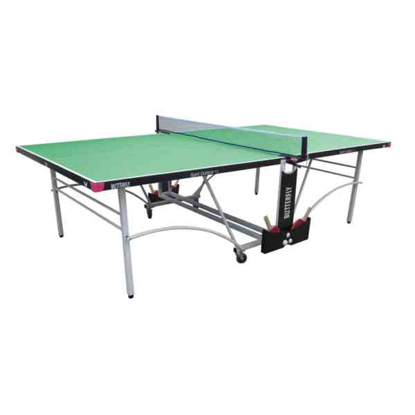 Butterfly Spirit 12 Green Outdoor Rollaway Table Tennis Table
