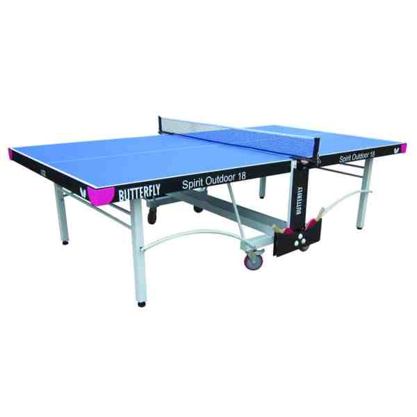 Butterfly Spirit 18 Blue Outdoor Rollaway Table Tennis Table