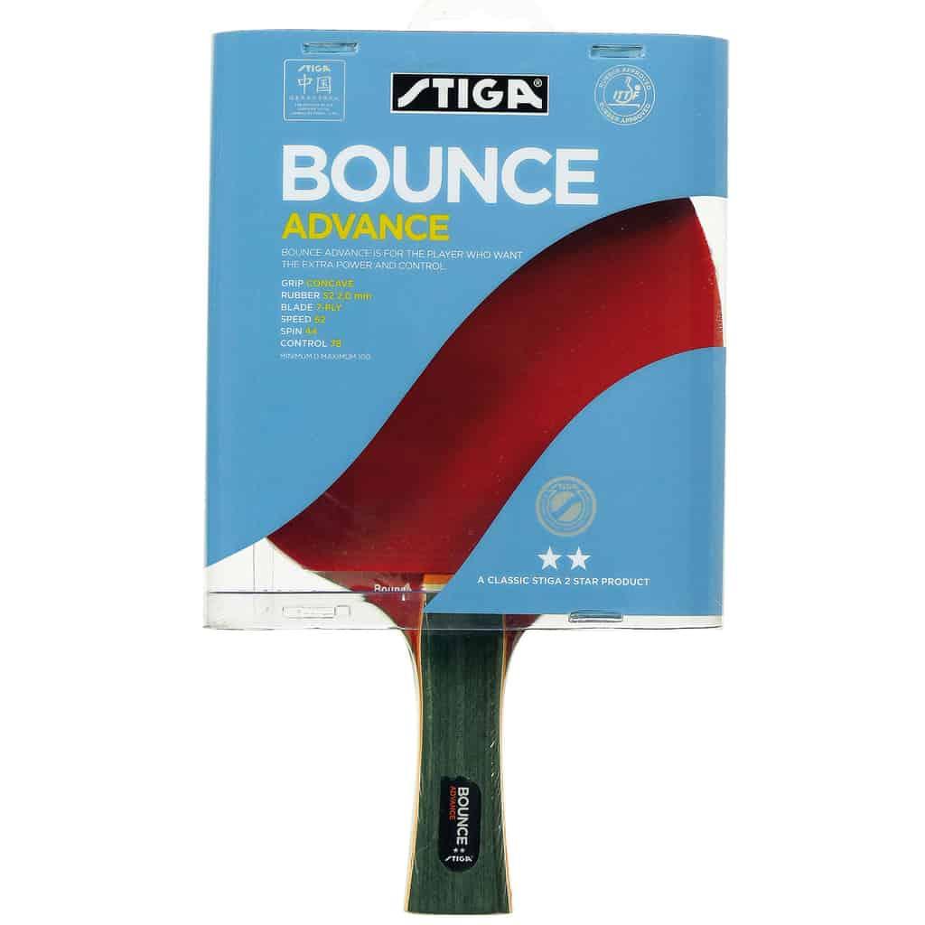 Stiga 2 Star Bounce Advance Table Tennis Bat - Pingpongpower.co.uk
