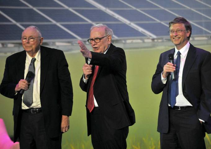 Consejos de Buffett, junto con Munger y Bill Gates