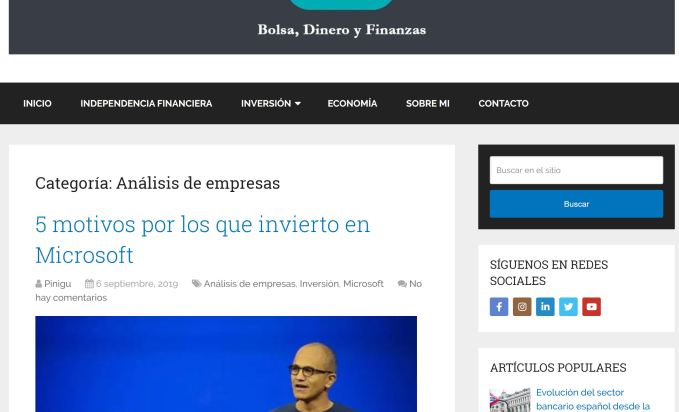 Pinigu análisis de empresas value investing