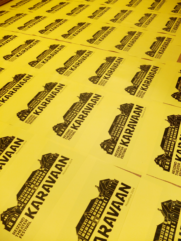 Screenprinting Karavaan placemats