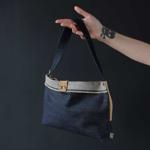 Handmade denim handbag