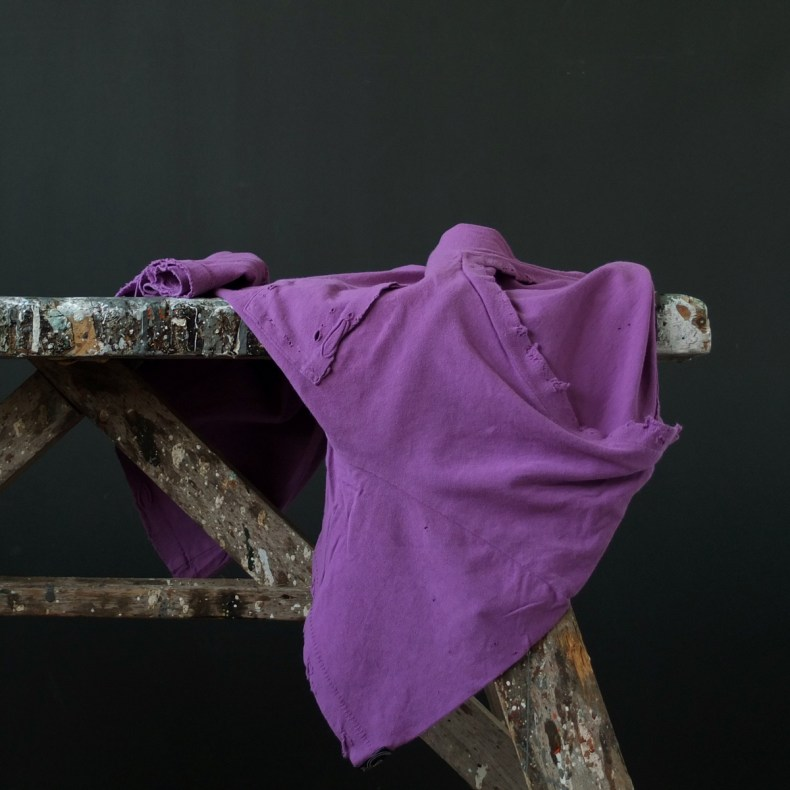 Purple vintage destroyed T-shirt