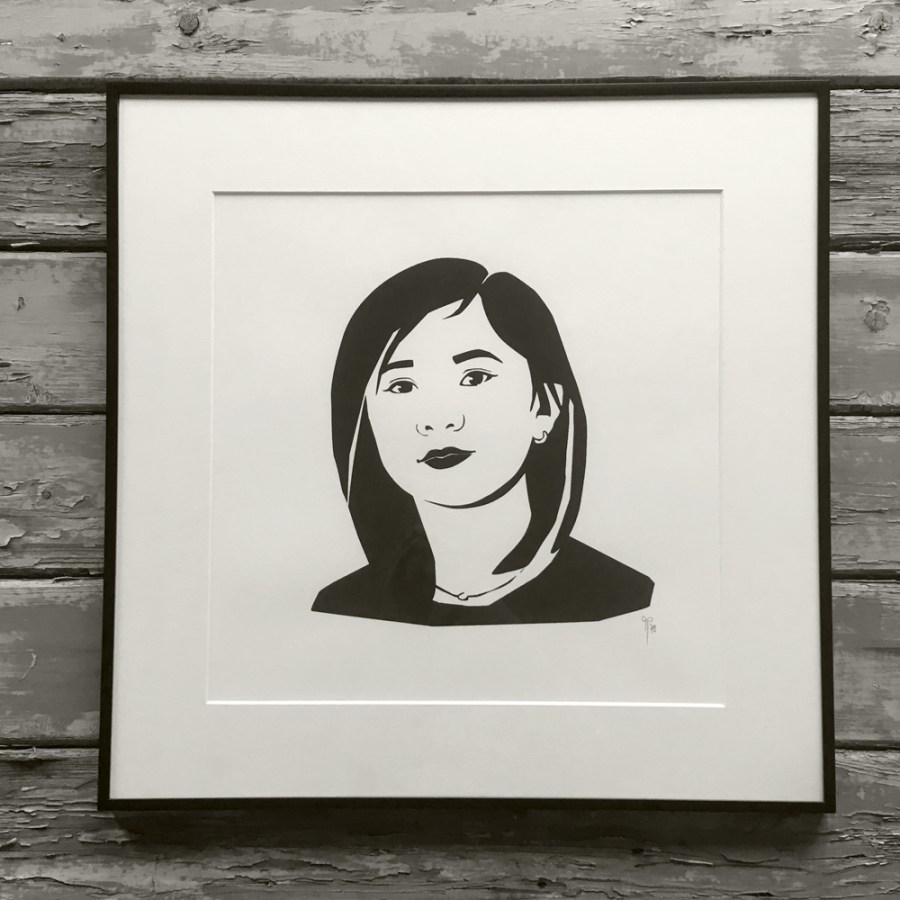Kaylee screenprinted portrait