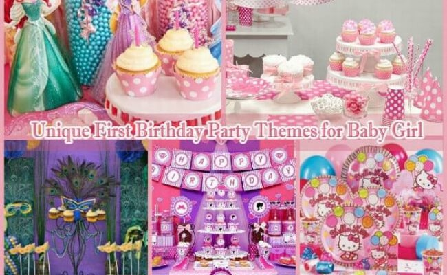 10 Unique First Birthday Party Themes For Baby Girl 1st