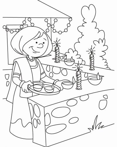 easy diwali festival drawing