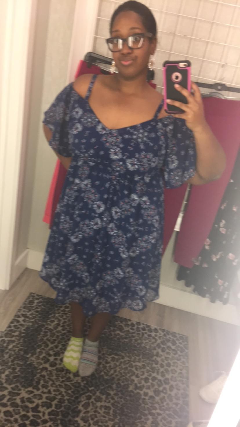 Torrid Cold Shoulder Blue Dress