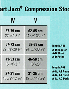 Size chart for all juzo compression stockings  pantyhose sold on pinkee promise also sizing garments rh pinkeepromise