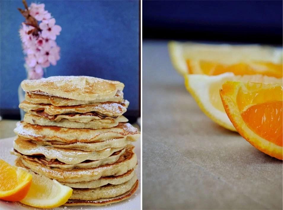 Pancakes z kaszą manną i ozechami